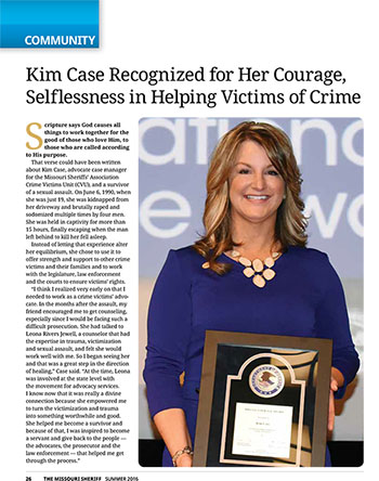 Kim Case - Victims Rights Advocate